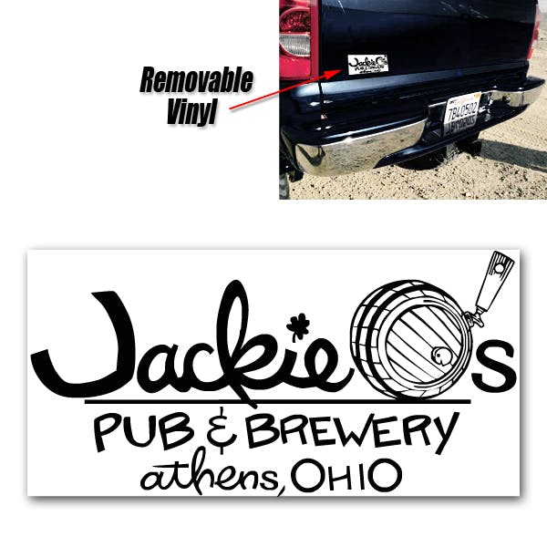 "3.75"" x 7.5"" Removable Decal (1 Day Production) Promotional sticker sold by MicrobrewMarketing.com"
