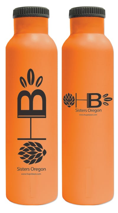 24oz Powder Coated Double-Walled Insulated Growler - sold by Cascade Graphics