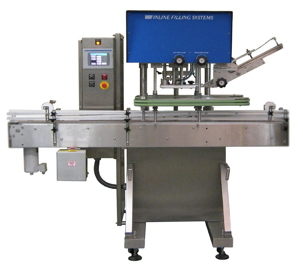 NT-IL-NEMA4 Automatic Inline – NEMA IV - Automatic Capping Machine - sold by Inline Filling Systems