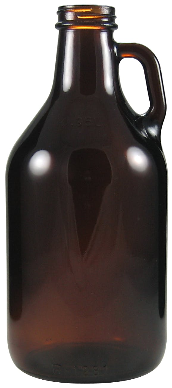 Mini Growler 32 oz - amber Growler sold by Glass Tech