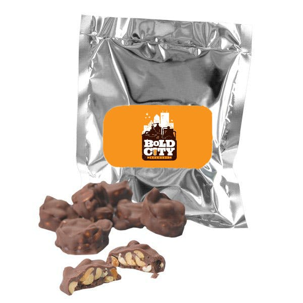 5.5 oz. Chocolate Covered Peanut Clusters Promotional product sold by MicrobrewMarketing.com