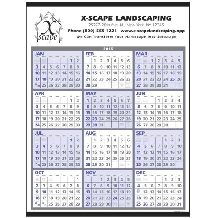 Norwood Promotional Products :: Product :: Span-A-Year Custom calendar sold by Distrimatics, USA