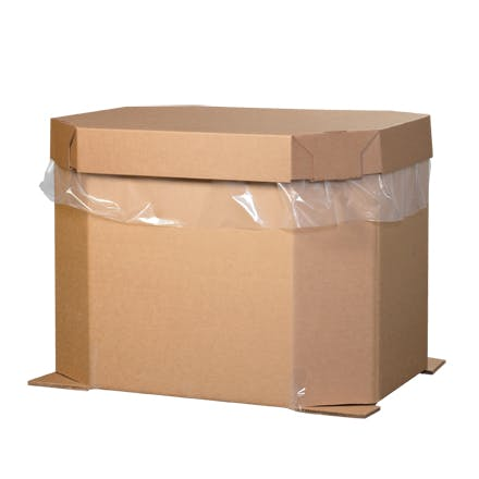 Octagon Kraft Bulk Bins Kraft packaging sold by Ameripak, Inc.