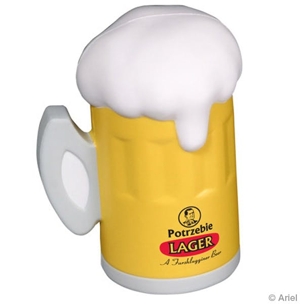 Ariel :: Beer Mug - LFD-BE07 Stress reliever sold by Distrimatics, USA