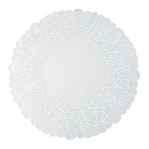 """4"""" Round White Lace Paper Doily"""