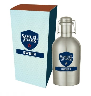 64 Oz. Stainless Steel Growler with Custom Box Growler sold by Kevins Worldwide