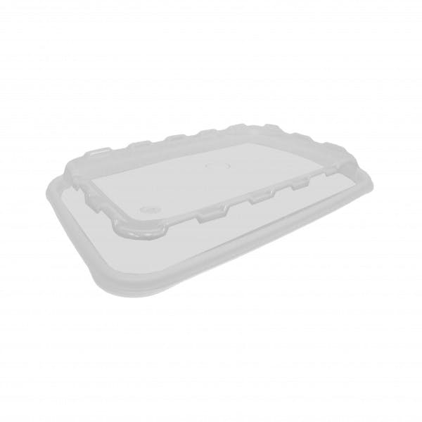 Clear Plastic Vented Lid for 64 oz. Black Food Container