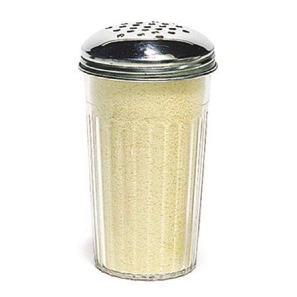 12 oz. Plastic Cheese Shaker w/ Stainless Perforated Lid