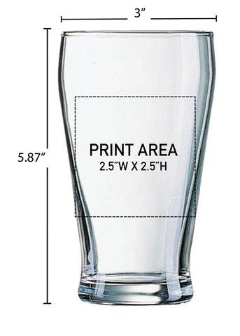 16 OZ. CROWN VIKING #606 Beer glass sold by Clearwater Gear