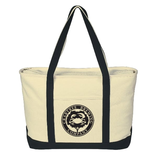 Large Heavy Cotton Canvas Boat Tote Bag sold by MicrobrewMarketing.com