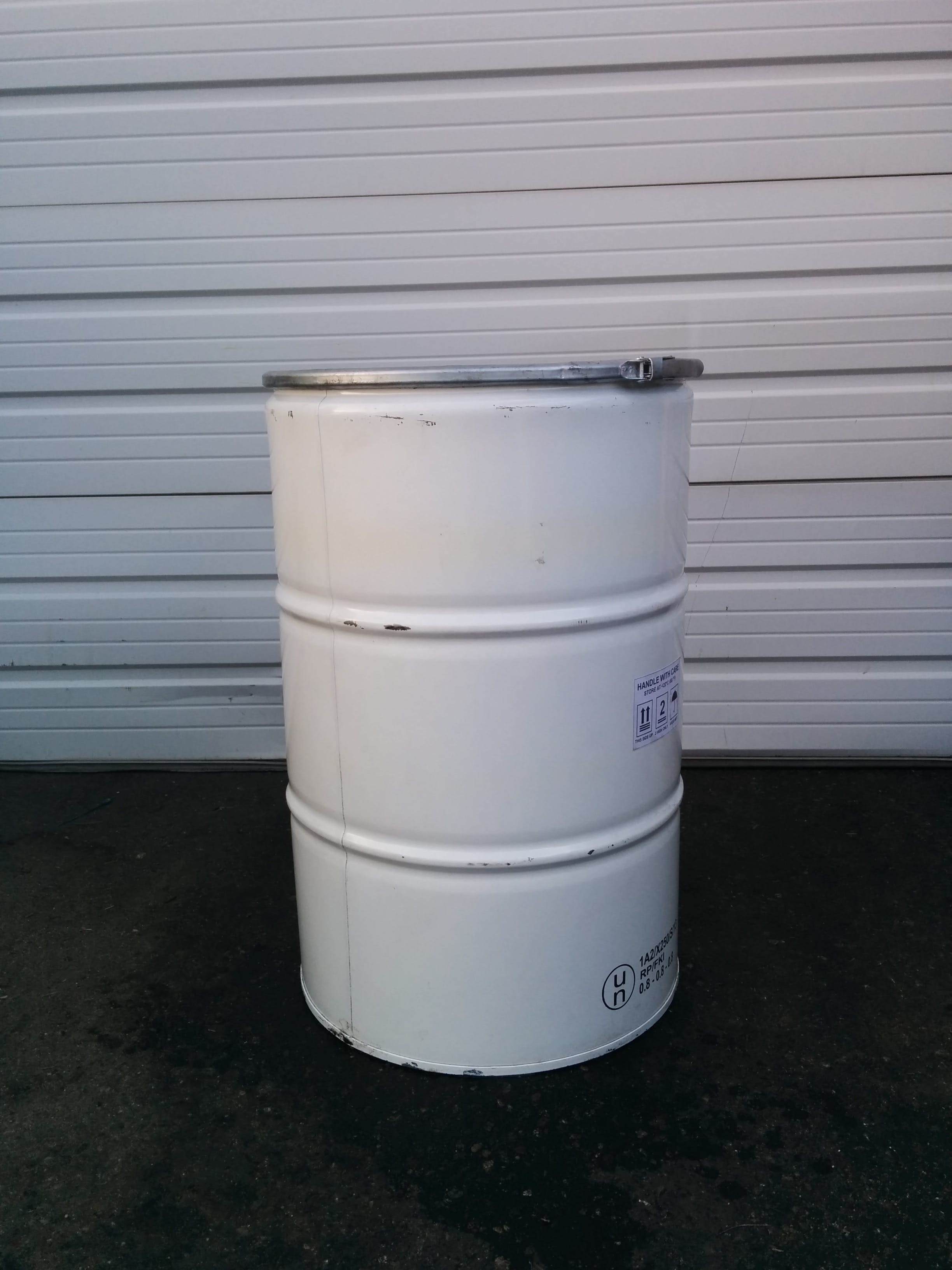 55 gallon Open Top Steel Drum, Food Grade Whiskey barrel sold by Container Reclaimer