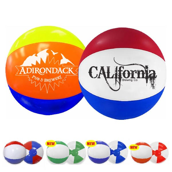 16in. Multi-Colored Beach Ball Promotional product sold by MicrobrewMarketing.com