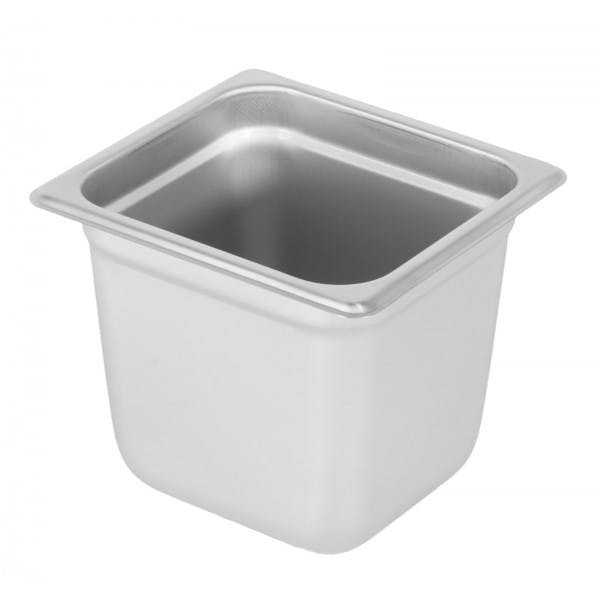 """6"""" Sixth Size Stainless Food Pan"""