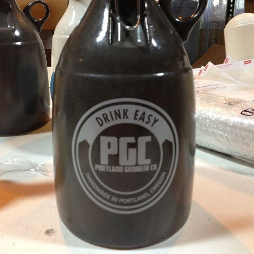The Loop - Satin Grey 64oz Growler sold by Portland Growler Company