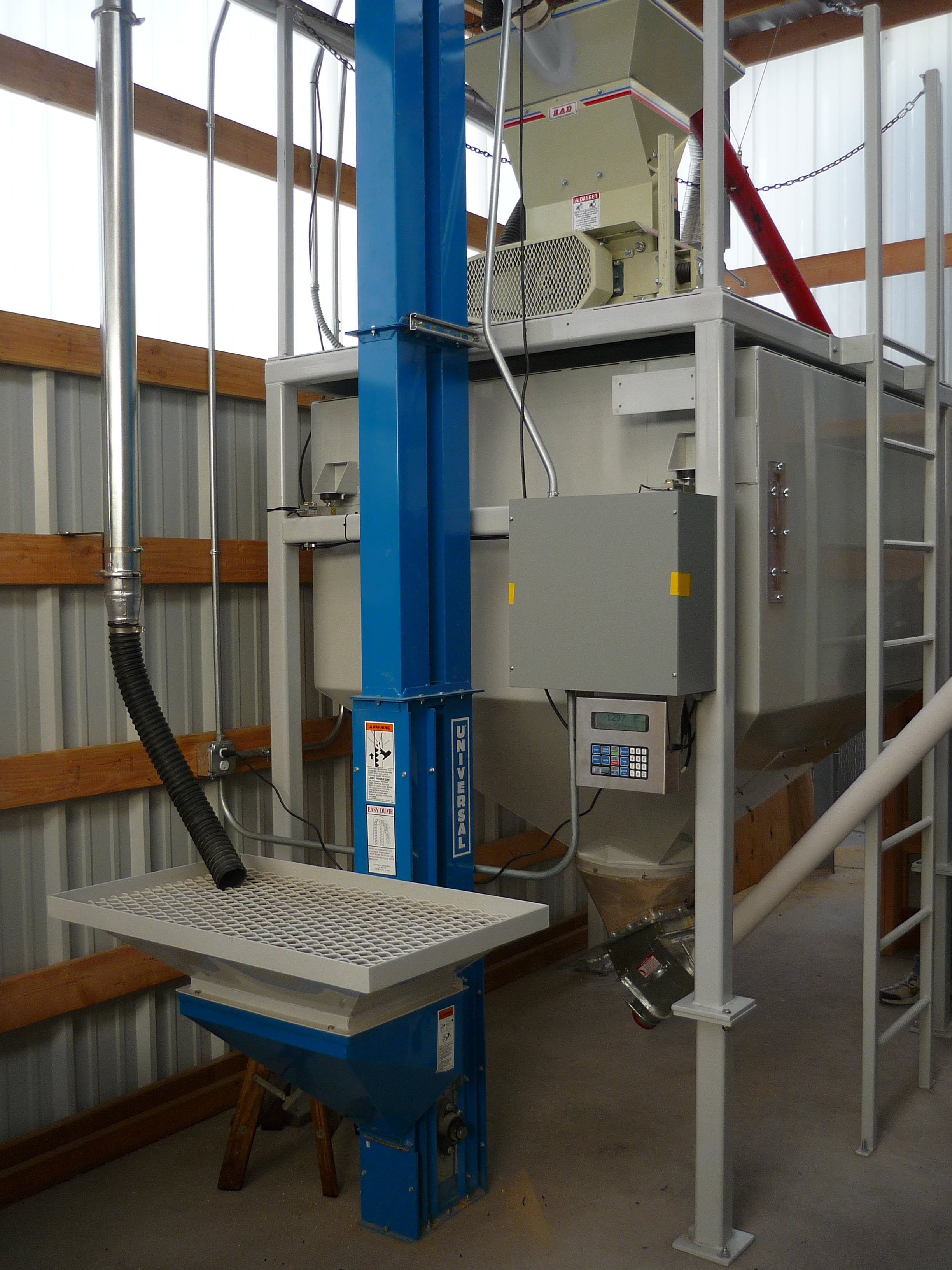 Universal Bucket Elevator Conveyor sold by ABM Equipment Company