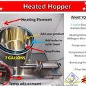 7 Gallon Heated Hopper-Double Layer Stainless Steel Hoper-Heating Element 1500w / Fits Jet- Only - Hopper sold by Pro Fill Equipment