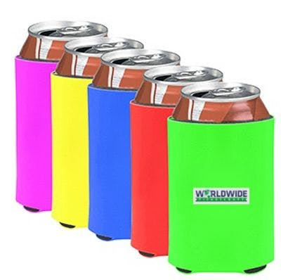 Neon can coolers - Can Coolers - sold by Worldwide Ticket and Label