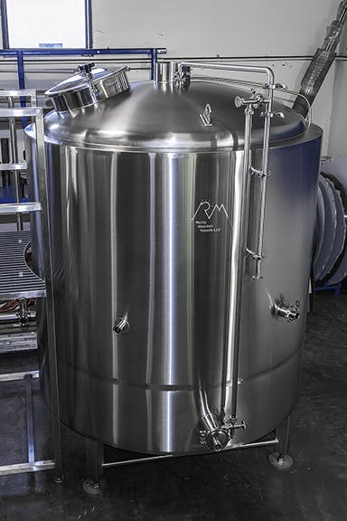 Combination boil kettle/whirlpool Kettle sold by Rocky Mountain Vessels, LLC