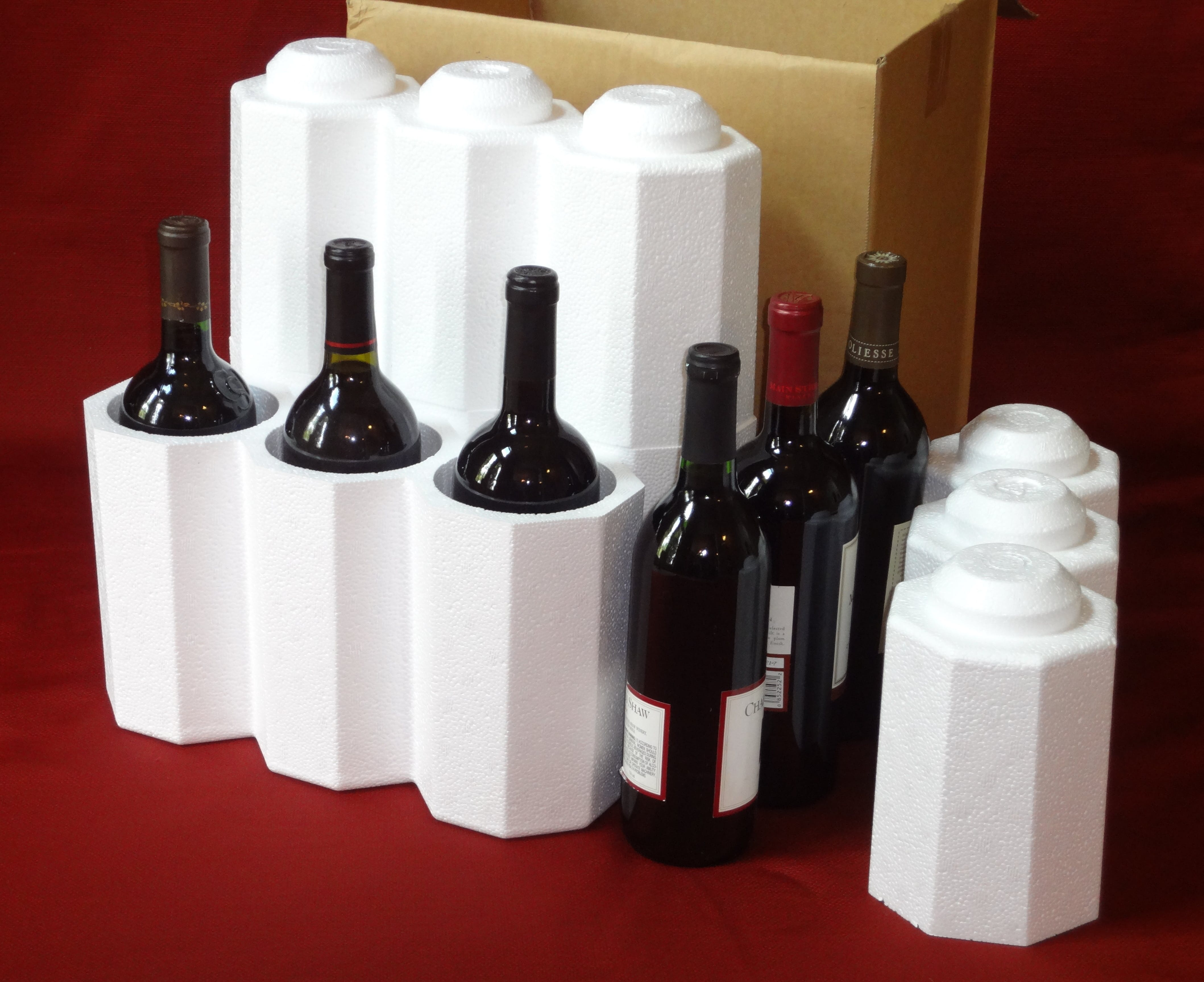 FOAM Wine Shippers with outer cartons Wine shipper sold by Gorilla Shipper