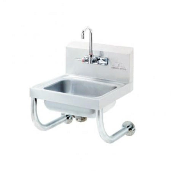 Stainless Hand Sink w/ Tubular Supports