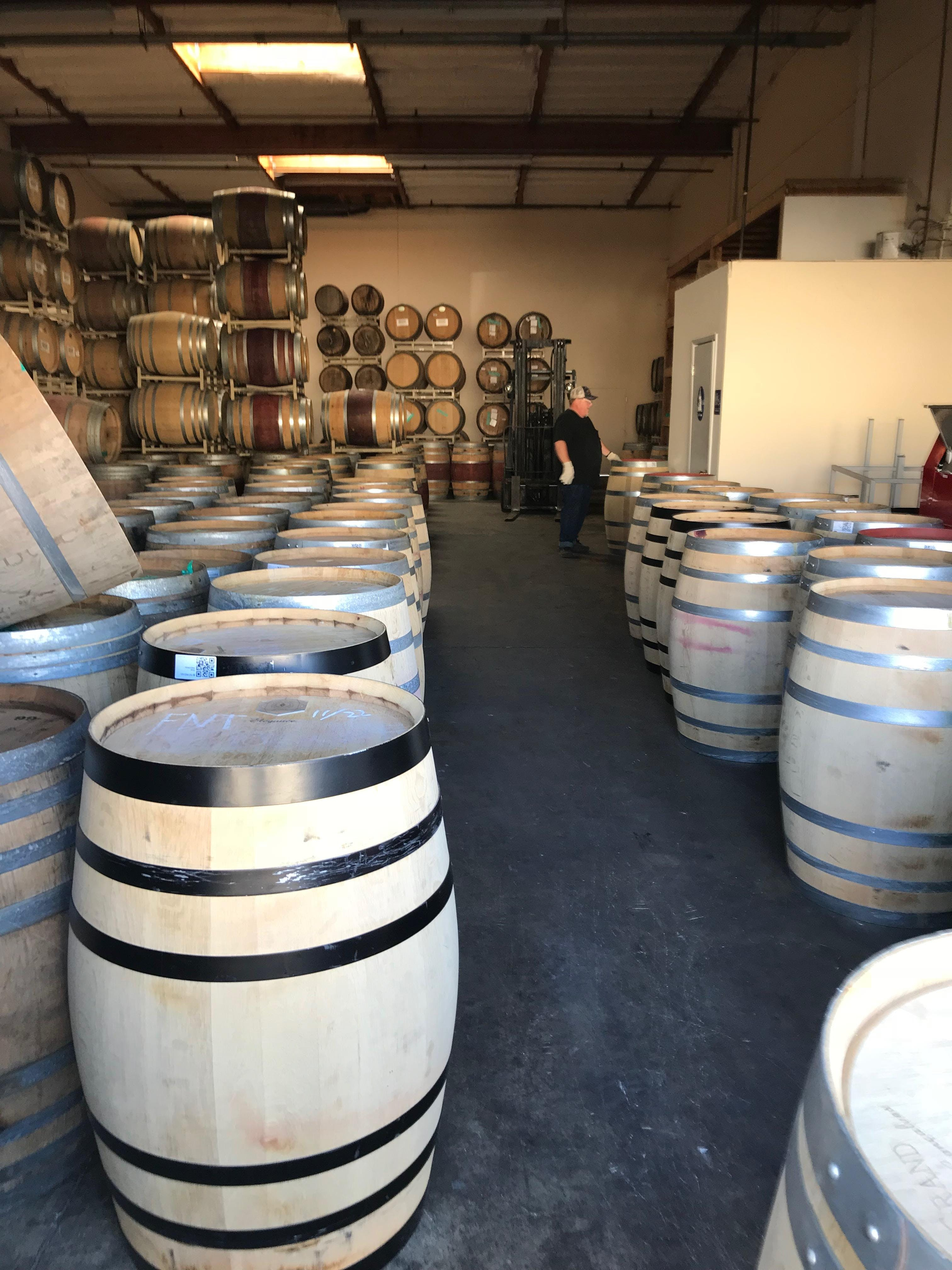 1 Time Use Wine Barrels From Napa