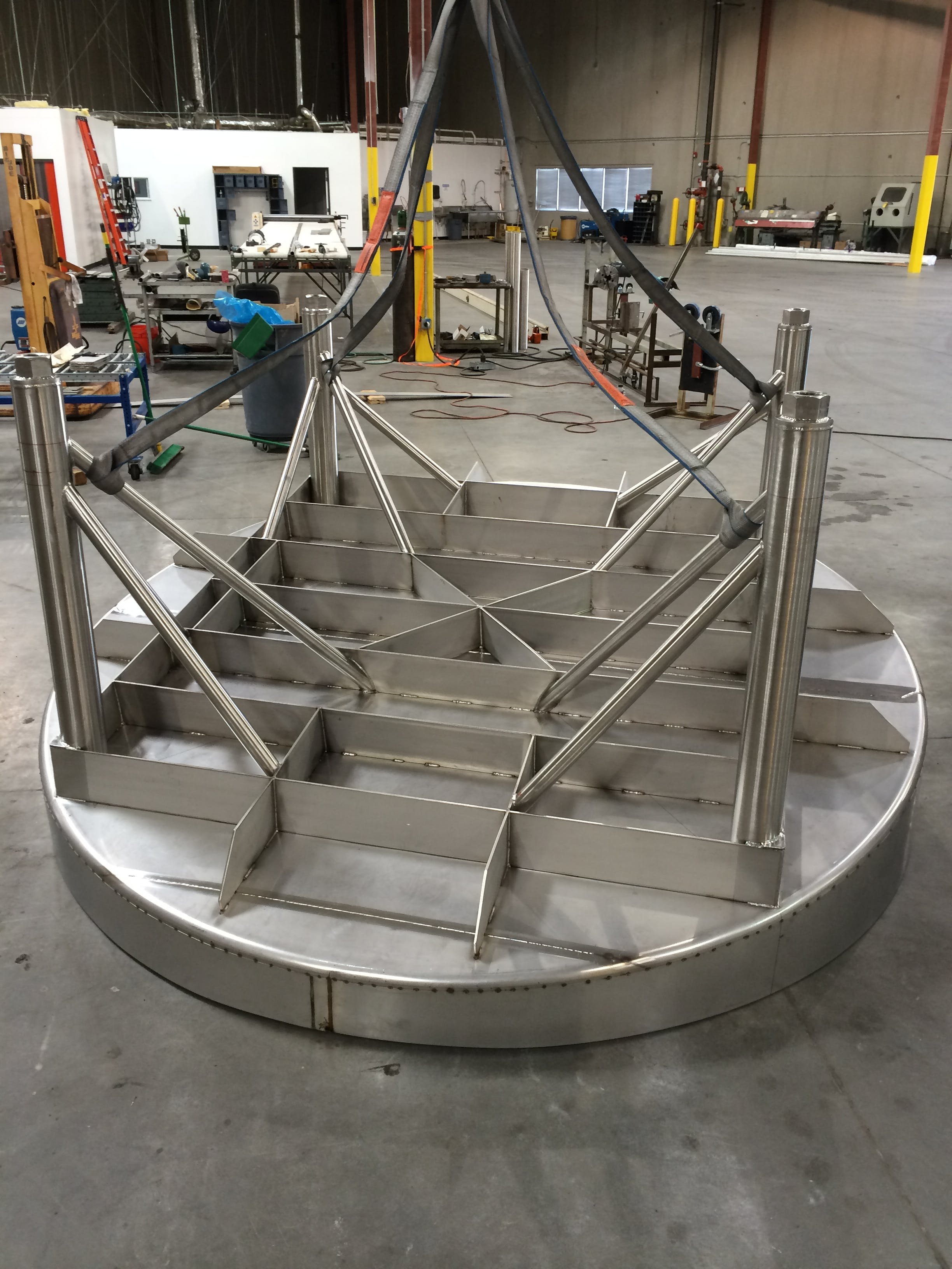 seismic base support - Wine tanks in process - sold by A-Z Stainless