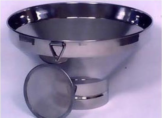 "6.5"" Stainless Strainer Dairy filtration equipment sold by Simple Milking Equipment"