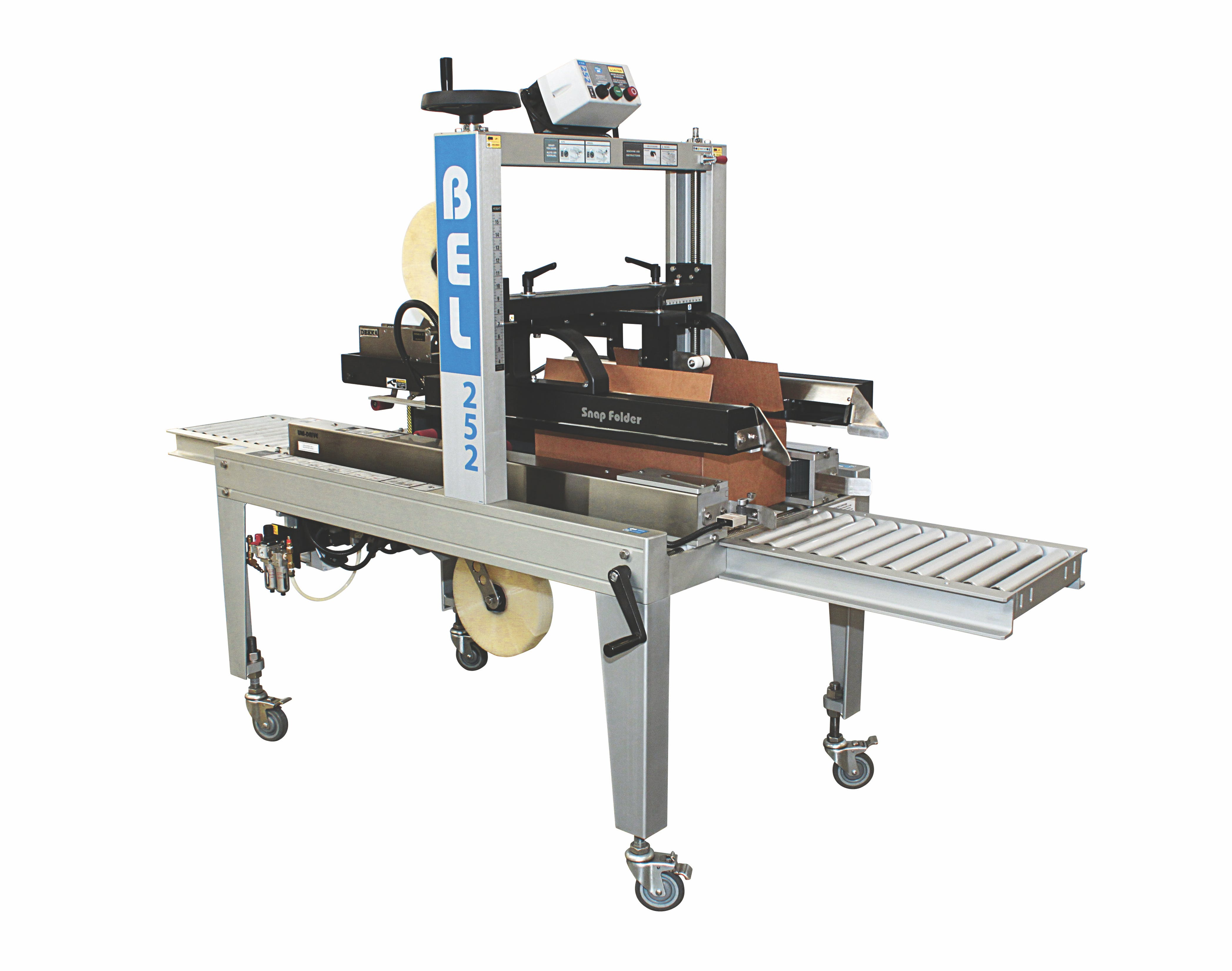 BEL 252 - Top and Bottom Sealer. Fully Automatic - Belcor Case Sealer - BEL-252, Fully Automatic - sold by Package Devices LLC