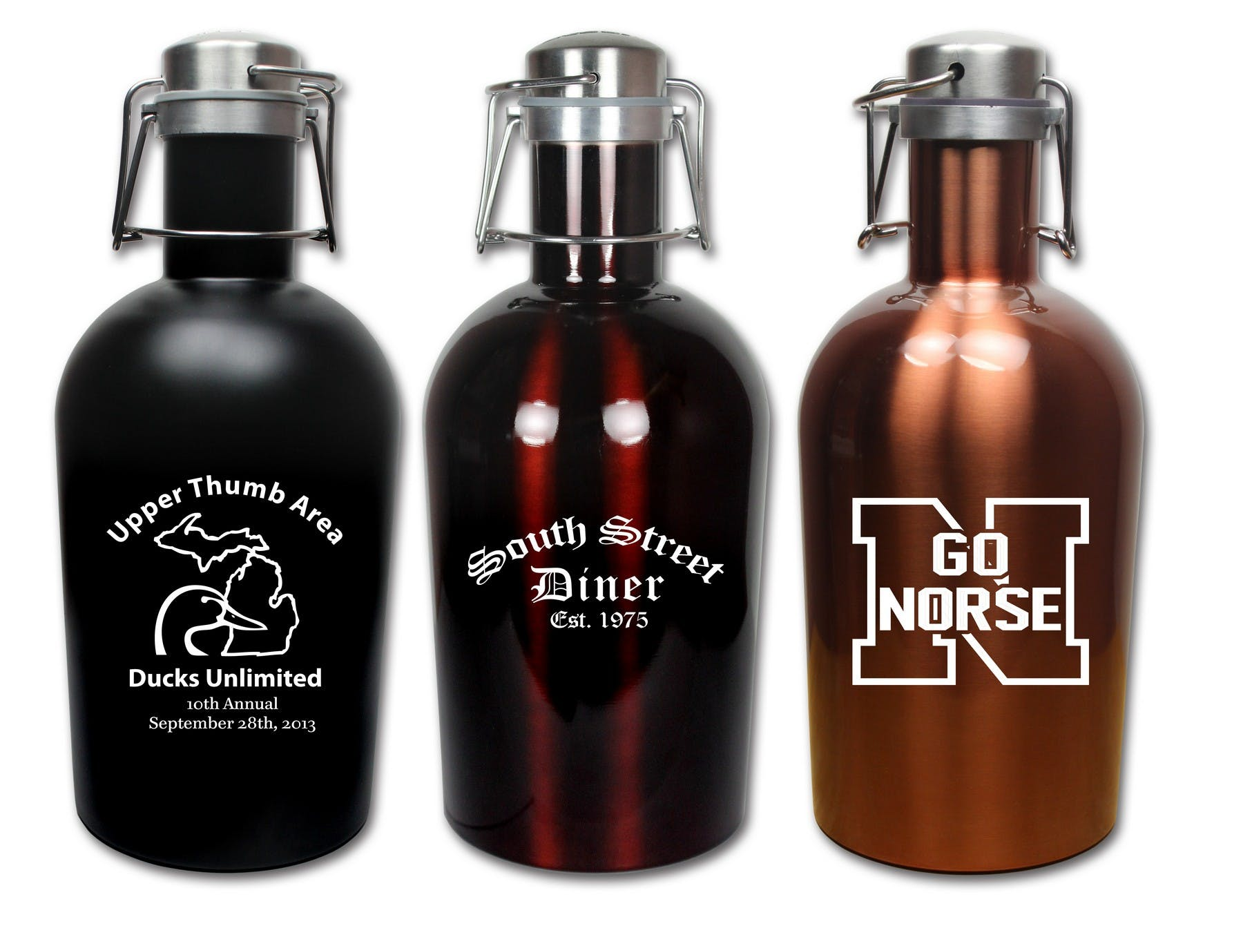 64 Oz. Stainless Steel Growler (Item # FFNHT-JYAPA) Growler sold by InkEasy
