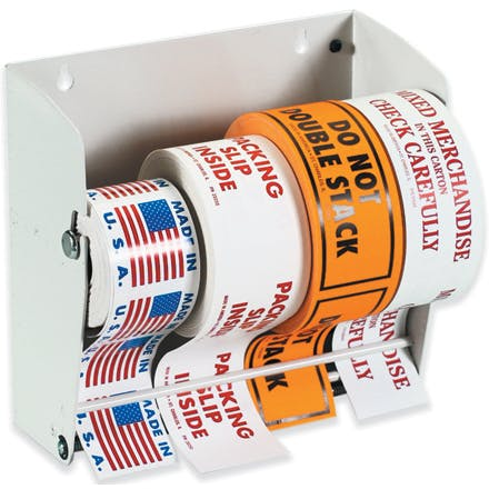 Wall Mount Label Dispensers Bottle label sold by Ameripak, Inc.