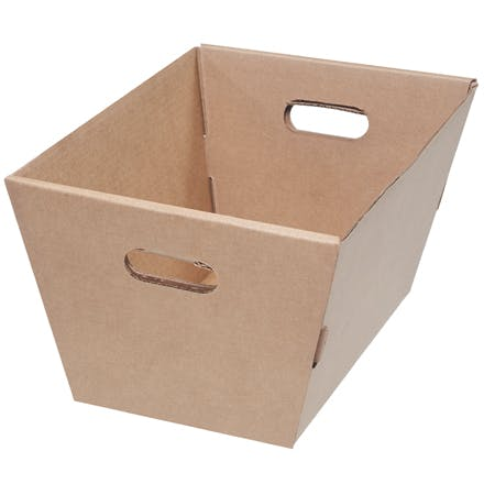 Corrugated Kraft Totes Kraft packaging sold by Ameripak, Inc.