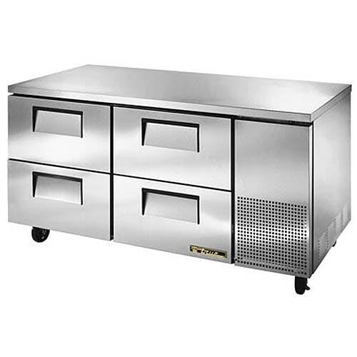 "True - TUC-67D-4 68"" Deep Undercounter Refrigerator w/ Drawers Commercial refrigerator sold by Food Service Warehouse"