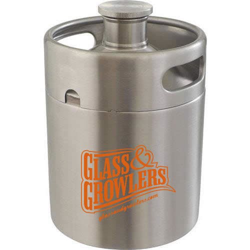 64 oz Stainless Keg Growler Keg growler sold by Glass and Growlers