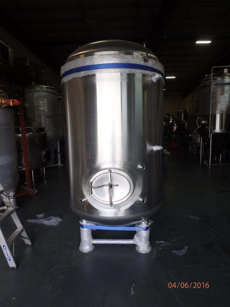 20 bbl jacketed bright tank Bright tank sold by GLACIER TANKS