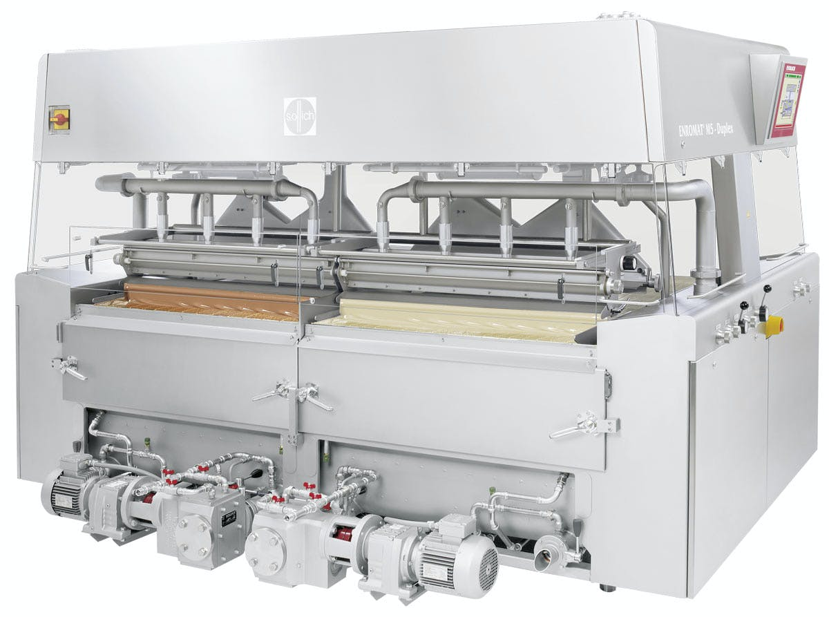 Sollich Enromat M5 Duplex Chocolate enrober sold by Sollich North America