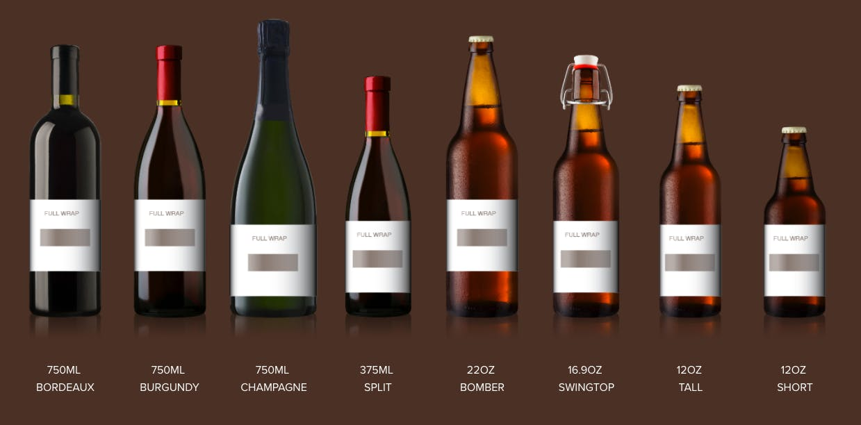 Bottle Labels Product Catalog - Photos, Pricing, and