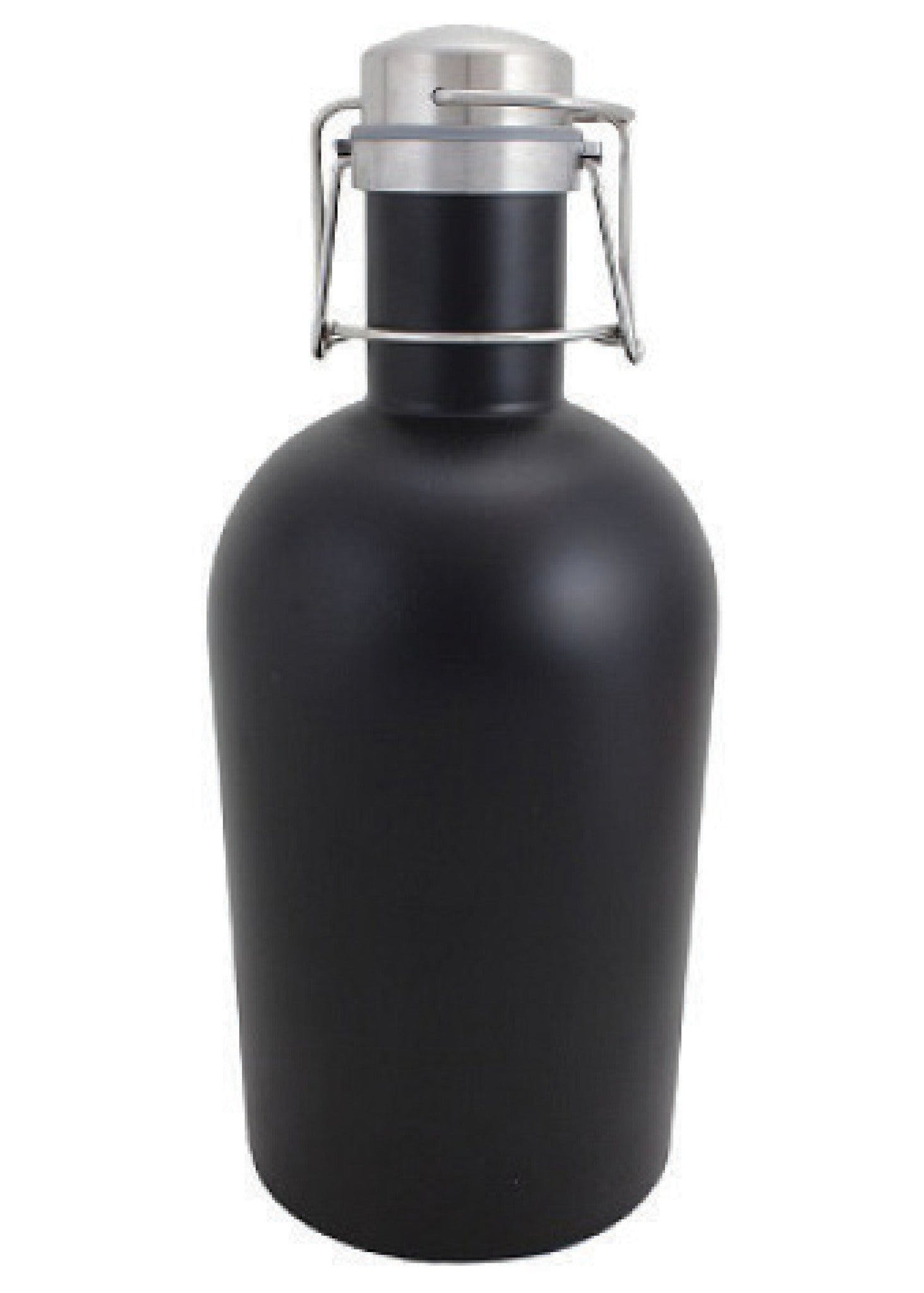 64 oz. Matte Black Growler w/ Handle #SG-M-07 - sold by Clearwater Gear