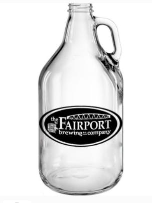 "64 oz Clear Growler- 10 ½""H Growler sold by Kevins Worldwide"