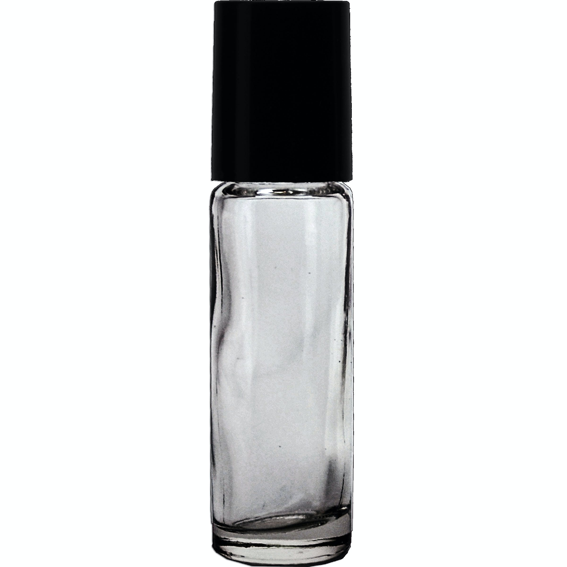 10ml Roll-on with black cap  Glass bottle sold by Glass Bottle Outlet