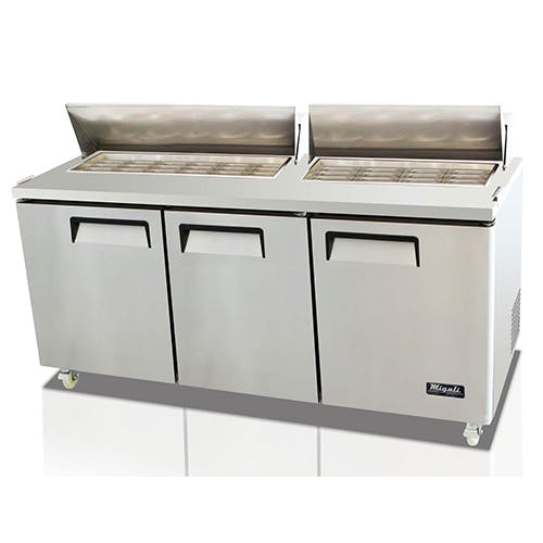 Migali C-SP72-30BT Three Door Prep Table Food prep table sold by Pizza Solutions