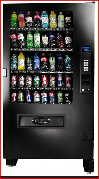 NEW INF5S - Glass Front 40 Selection Drink Machine Vending machine sold by MEGAvending.com