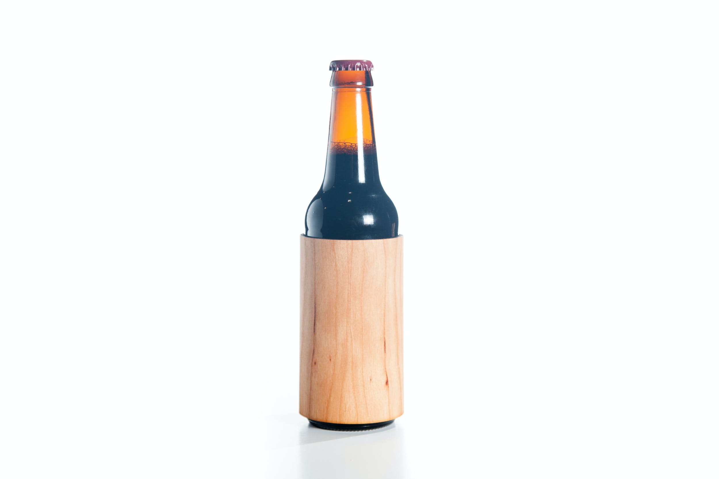 Real Wood Bottle Koozie - sold by Just 1 Tree