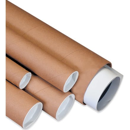 Kraft Mailing Tubes Kraft packaging sold by Ameripak, Inc.