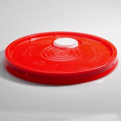 5 gal. Red HDPE Pour Spout Pail Covers (#217424) - sold by Berlin Packaging