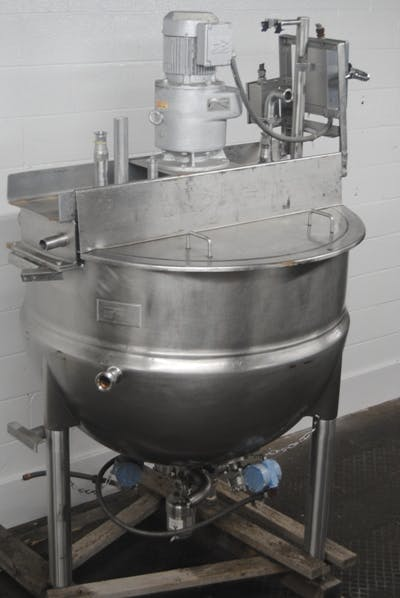 Lee model 200D7S 200 gallon Stainless Steel cooking & mixing Kettle Mixing tank sold by Union Standard Equipment Co