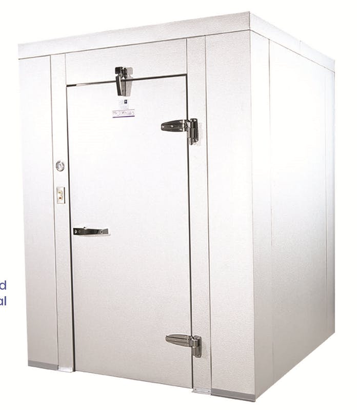 10'0'' X 10'0'' X 6'6''H Freezer, Mr. Winter. Out door placement Walk in cooler sold by Easy Refrigeration Company