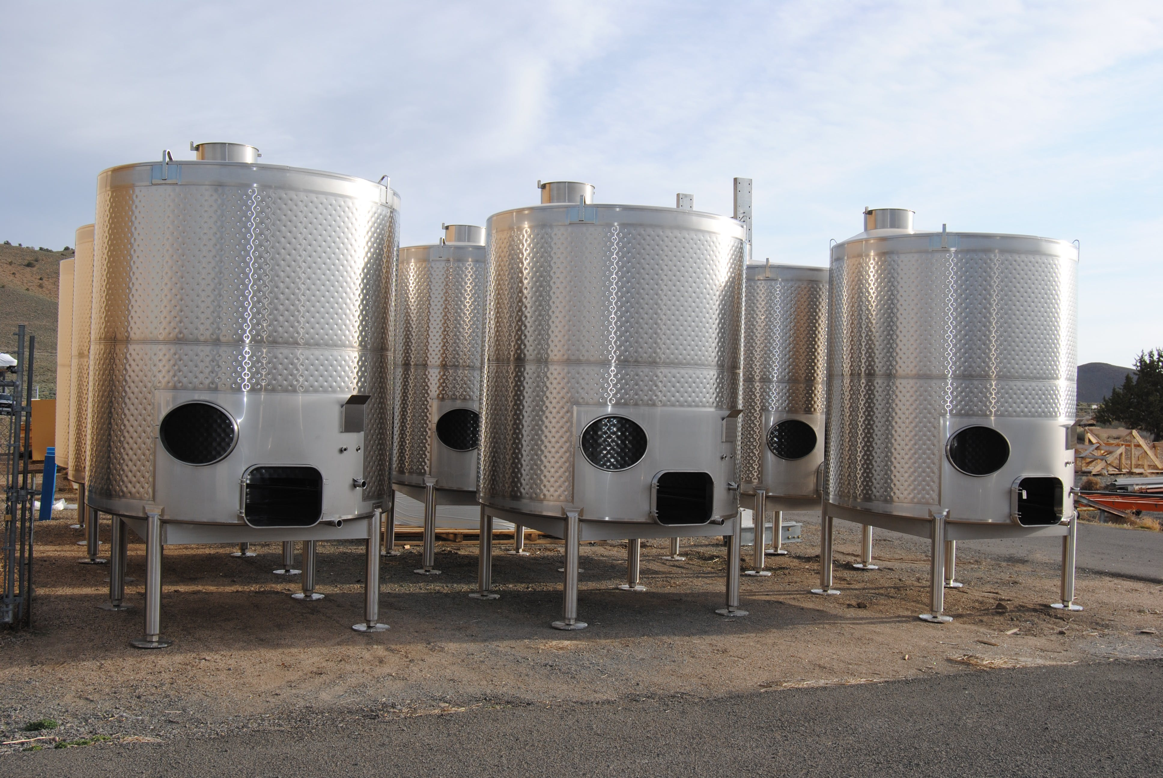 Variety of Winery Tanks - sold by Silver State Stainless
