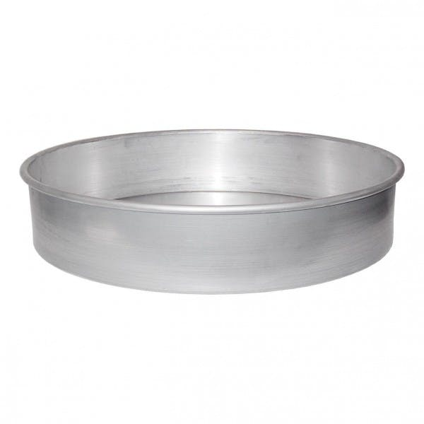 "10"" Aluminum Straight-Sided Pizza Pan"