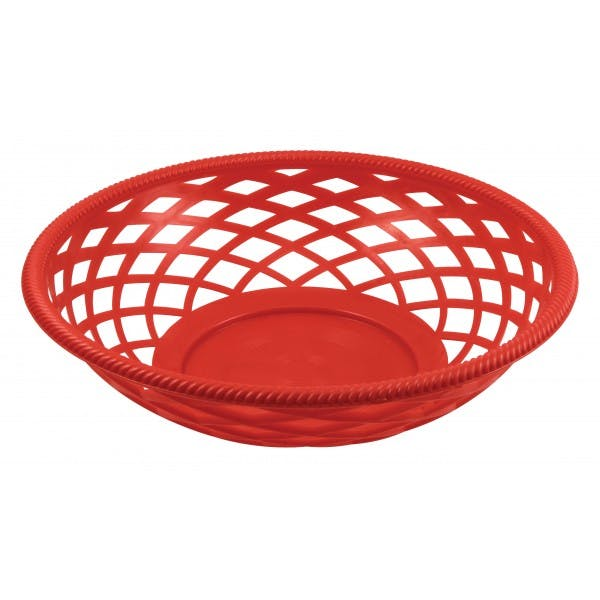 "9"" Round Red Basket"