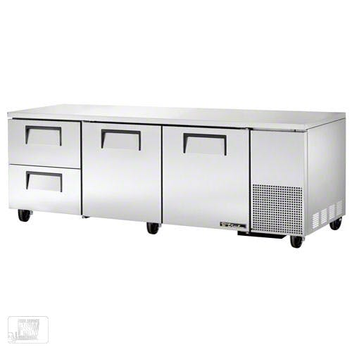 "True - TUC-93D-2 93"" Deep Undercounter Refrigerator w/ Drawers Commercial refrigerator sold by Food Service Warehouse"